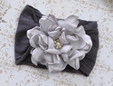 Classy Baby Angelica Flower Headband for Infants in Silver