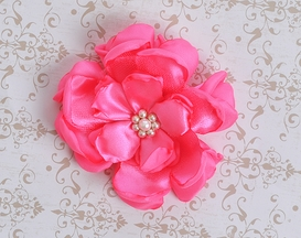 Classy Baby Hot Pink Angelica Flower Clip