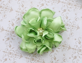 Classy Baby Lime Angelica Satin Flower Clip