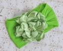 Classy Baby Lime Green Angelica Flower Infant Headband
