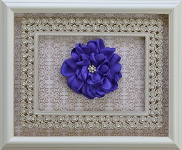 Classy Baby Purple Girls Hairbow with Pearl Accents