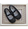 Coastal Projections Black Sequin Girls Shoes