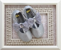 Coastal Projections Girls Silver Glitter T Strap Shoes