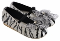 Coastal Projections Girls Zebra Sequin Shoes