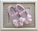 Coastal Projections Pink Sequin Flats Strappy Rosette