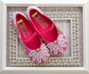 Coastal Projections Sequin Party Shoes in Hot Pink