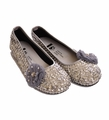Coastal Projections Silver Shoes with Tulle Bow