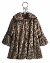 Corky and Company Girls Leopard Coat in Faux Fur
