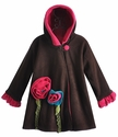 Corky Coats Brown Fleece Winter Coat for Girls