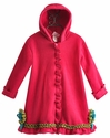 Corky Coats Fuchsia Girls Swing Coat in Fleece