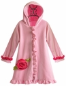 Corky Coats Girls Pink Fleece Coat with Ruffles