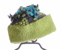 Corky Coats Green Flower Top Hat for Girls