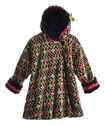 Corky Coats Hooded Girls Coat Fair Isle
