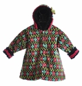 Corky Coats Little Girls Swing Coat Fair Isle
