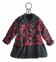 Corky Coats Navy Blooms Away Little Girls Coat