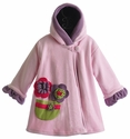 Corky Coats Pink Girls Winter Coat with Flowers
