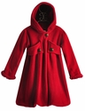 Corky Coats Winter Coat for Girls Red with Bubble Hem