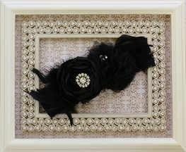 Couture Girls Headband in Black by LaBella Flora