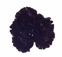 Crinkled Velvet Black Jeweled Clip