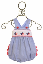 Delaney Baby Girls Red, White, and Blue Sunsuit