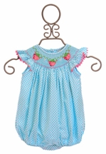 Delaney Polka Dot Infant Romper (Size 12mos)