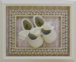 Designer's Touch Ivory Leather Ballet Shoes (Size 11)