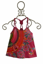 Desigual Braided Tank Top for Girls in Red (4 & 7/8)
