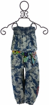 Desigual Denim Jumpsuit Palm Tree Print (3/4,7/8,9/10,11/12)