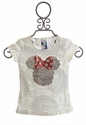 Desigual Designer Minnie Mouse Top for Girls in Sequins (4 & 9/10)