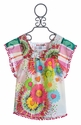 Desigual Floral Top with Pom Poms for Girls