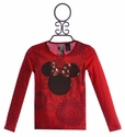 Desigual Girls Minnie Mouse Shirt in Red (Size 4)