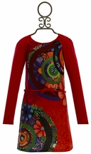 Desigual Girls Red Dress Galactic (3/4,5/6,9/10)
