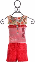 Desigual Girls Romper in Red