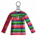 Desigual Girls Striped Desigual Tee