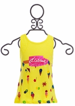 Desigual Girls Tank Top Ice Cream Print