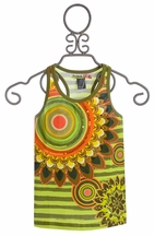Desigual Girls Top with Sunflowers (Size 7/8)