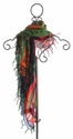 Desigual Green Fringe Scarf for Girls