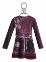Desigual Long Sleeve Dress in Purple