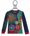 Desigual Long Sleeve Top for Girls in Multi Print