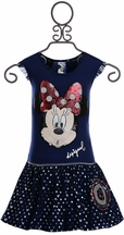 Desigual Minnie Mouse Dress in Navy (5/6,7/8,9/10,11/12)