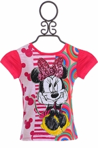Desigual Minnie Mouse Tee in Fuchsia