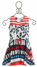 Desigual Red White and Blue Dress for Girls (4,9/10,13/14)