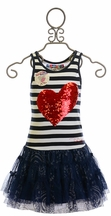 Desigual Sequin Heart Tutu Dress (4 & 13/14)