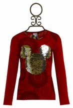 Desigual Sequin Mickey Mouse Top for Girls (5/6 & 7/8)