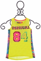 Desigual Sleeveless Tunic in Yellow