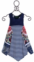 Desigual Tank Dress for Girls in Blue (5/6,7/8,9/10,11/12)