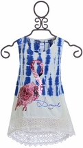 Desigual Tie Dye Flamingo Top