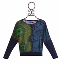 Desigual Top for Girls in Blue (4 & 7/8)