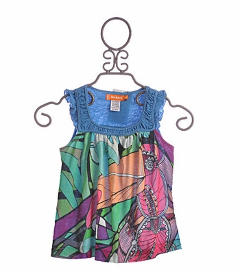 Desigual Tween Tank Flowing Blue