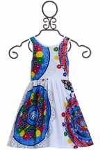 Desigual White Dress with Bright Accents